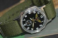 POBEDA Komandirskie Naval Aviation VMF Vintage Mens Watch /serviced (new strap)