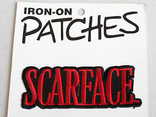 VINTAGE SCARFACE MOVIE LOGO IRON-ON EMBROIDERED CLOTH PATCH WOVEN SEW-ON BADGE