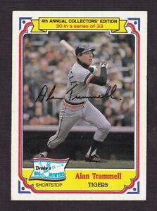 1984 Drake's #30 Alan Trammell Detroit Tigers