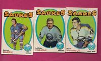 1971-72 OPC SABRES BARRIE RC + ANDERSON + HILLMAN  CARD (INV# A1833)