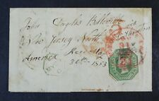 CKStamps: Great Britain Stamps Collection Scott#5a Used on Cover, Cover Tear