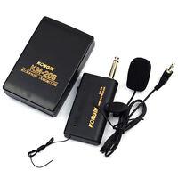 Mini Wireless Cordless Clip-on Lapel Tie Microphone Mic Transmitter System Set