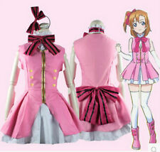 Love Live! Kousaka Honoka pink Cosplay Start dash! sj Costumes Lolita Maid Dress