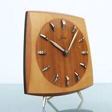 HAID KIENZLE Mantel Clock Germany 1960s HIGH GLOSS Mid Century Vintage 7 JEWELS!
