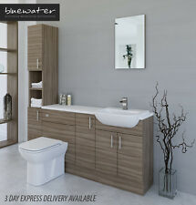 DRIFTWOOD BATHROOM FITTED FURNITURE 1800MM WITH TALL UNIT