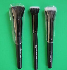 e.l.f. Studio Wet Dry Flat Face Brush Foundation Concealer Powder Stipple ELF