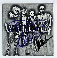 EDDIE VAN HALEN/VAN HALEN SIGNED COVER BY 4 COA PROOF!