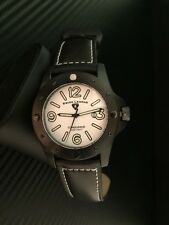 Swiss Legend Men's 20188-01 Conqueror White Dial Black Leather Watch
