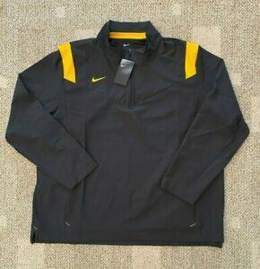 Nike Mens 1/4 Zip Pullover Football Wind Jacket Black/Yellow 3XL Steelers Colors