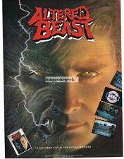 1990 Sega Altered Beast Computer Game Vtg Print Ad