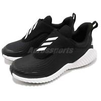 adidas FortaRun AC K Black White Kid Junior Slip On Running Shoes Sneaker AH2627