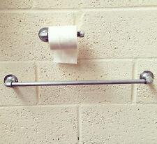 Industrial Pipe conduit Towel Rail Toilet Holder Bathroom set