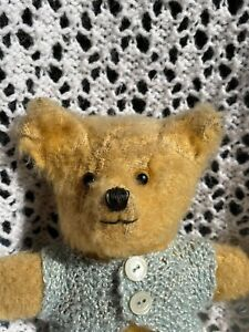 """Diddy   7.5 """" c1940/50's adorable little Pram Toy English Old Antique Teddy Bear"""