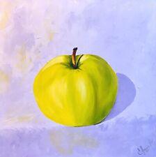 Apple, oil painting on canvas, original, Pop Art, Still Life, Modern, kitchen