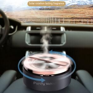 Car Air Freshener Solar Auto Rotating Fragrance Perfume Aromatherapy Diffuser