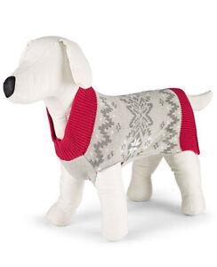New Family PJs Matching Holiday Winter Fairisle Pet Sweater, X-Large