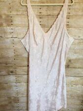 Women's Size 26 Pink Satin Floral 2x Escapades Sleveless Nightgown xxl slip