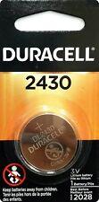 1 NEW DURACELL DL 2430  CR2430 DL2430 3v LITHIUM BATTERY EXPIRE 2028