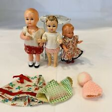 3x alte Puppe für die Puppenstube Puppenstubenpüppchen Schildkröt und andere