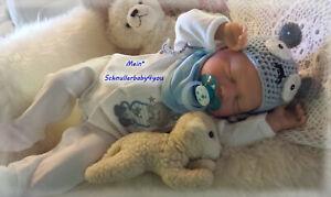 ♥Reborn Reallife Baby Boy BS v. U.L Krautter,wie echt ! Babypuppe Puppe♥