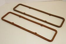 "SB Chevy .330"" Extra Thick Cork Steel Core Valve Cover Gaskets 327 350 383 SBC"