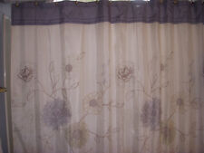 Home Classics Della Shower Curtain Floral With Blue Border Bath- EUC
