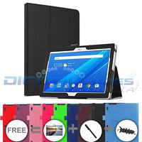 "Premium Lenovo Tab 4 8 / 10 / 10 Plus Inch Tablet Leather Case Cover 8"" 10"""