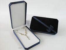 écrin pour collier velours bleu BIJOUTERIE Médaille Présentation Boîte de
