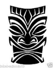 ANGRY TIKI TIKKI Mask Polynesian Decal Vinyl Car truck window Sticker NiCE!!