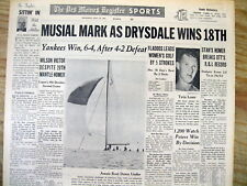 1962 newspaper St Louis Cardinal STAN MUSIAL sets the new NL lifetime RBI RECORD