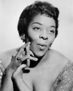 Singer DINAH WASHINGTON Glossy 8x10 Photo 'Queen of the Blues' Print Poster