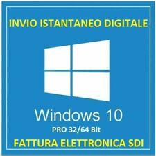 LICENZA WINDOWS 10 PRO 32 / 64 BIT KEY WIN 10 CON FATTURA ITALIANA SDI