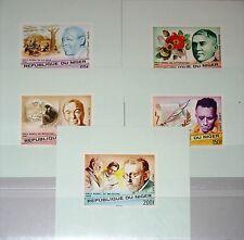 NIGER 1977 586-90 406-10 DELUXE Sheets Nobel Prize Winners Nobelpreis Gewinner**