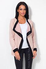 Stylish Women's Collared Jacket Long Sleeve Cardigan Blazer Sizes 8-18 8349