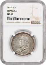 1937 Roanoke 50c NGC MS66 - Silver Classic Commemorative