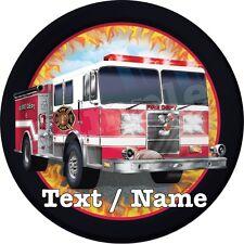 Pompier Decoration Gateau Disque Azyme Comestible Anniversaire