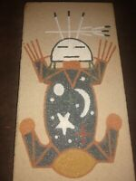 Vintage Navajo Sand Painting 1975 Father Sky Native American