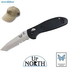 Benchmade 557S Mini Griptilian Knife Serrated TANTO Blade w/AXIS Lock FREE HAT