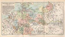 Garnisonkarte Militär  Mitteleuropa Stand 1893 Deutsches Reich DR   von 1894