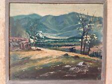 1942 California Impressionist Orig Estate Oil Painting Artist Beeson Glendale
