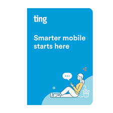 Ting Mobile SIM Card Kit for Unlocked Phones - No Contracts, No Prepayment, LTE