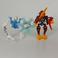 Lego Bionicle - FIRE AND ICE! Blue, White, Orange, Red - AS SHOWN - BFA7