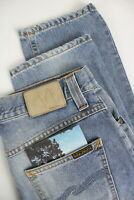 RRP $113 NUDIE GRIM TIM ORG. FAVORITE INDIGO Men W29/L32 Faded Blue Jeans 4216_m
