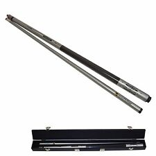 Silver Titanium Graphite Billiard Cue Pool Stick + Case