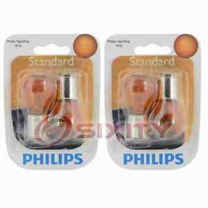 2 pc Philips Front Turn Signal Light Bulbs for Smart Crossblade EQ fortwo ed