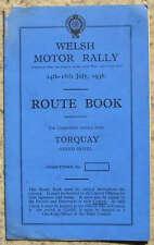 WELSH RALLY MOTORE Torquay percorso iniziale Book 14 - 18 luglio 1936