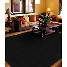 Modern Black Square Pattern Area Rug 8 X 10 Floor Carpet Home Decor Living Room