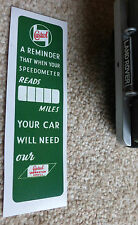 Land Rover Series 1 2 2a 3 Service due at ... with Castrol Oils Sticker Decal