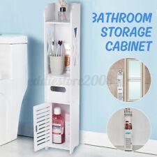 White Bathroom Toilet Storage Cabinet Waterproof Organizer Standing Rack Small