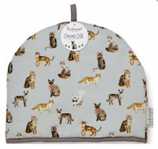 Curious Cats Design Tea Cosy 100% Cotton Teapot Insulated Cover Warmer Kitchen
